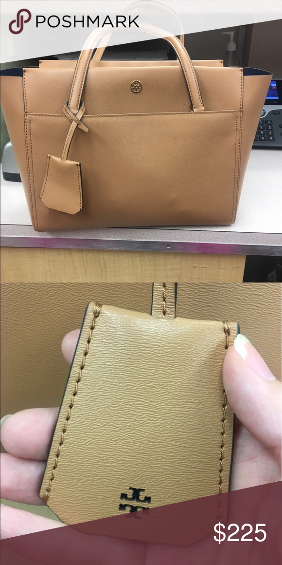 219afcd2e9d4e5 Tory Burch Parker Small Tote Caradamon/Royal Navy Just purchased, used  about three times. Perfect condition/smoke free home Tory Burch Bags Totes