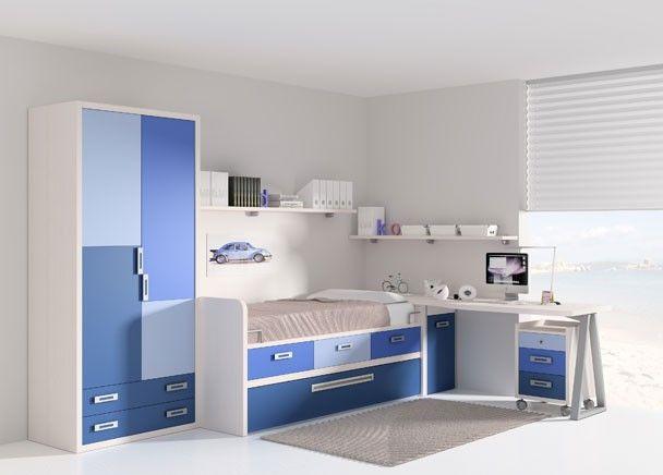 Habitaci n infantil con armario de 90cms altura 215cms interior de armario con altillo y barra - Armario habitacion infantil ...