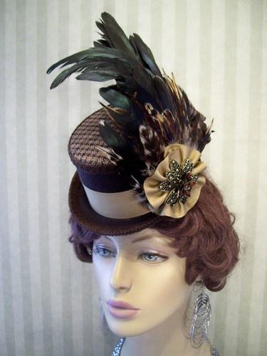 0785473f5ef59 Mini Top Hat Victorian Hat Riding Hat Fascinator Wedding Hat