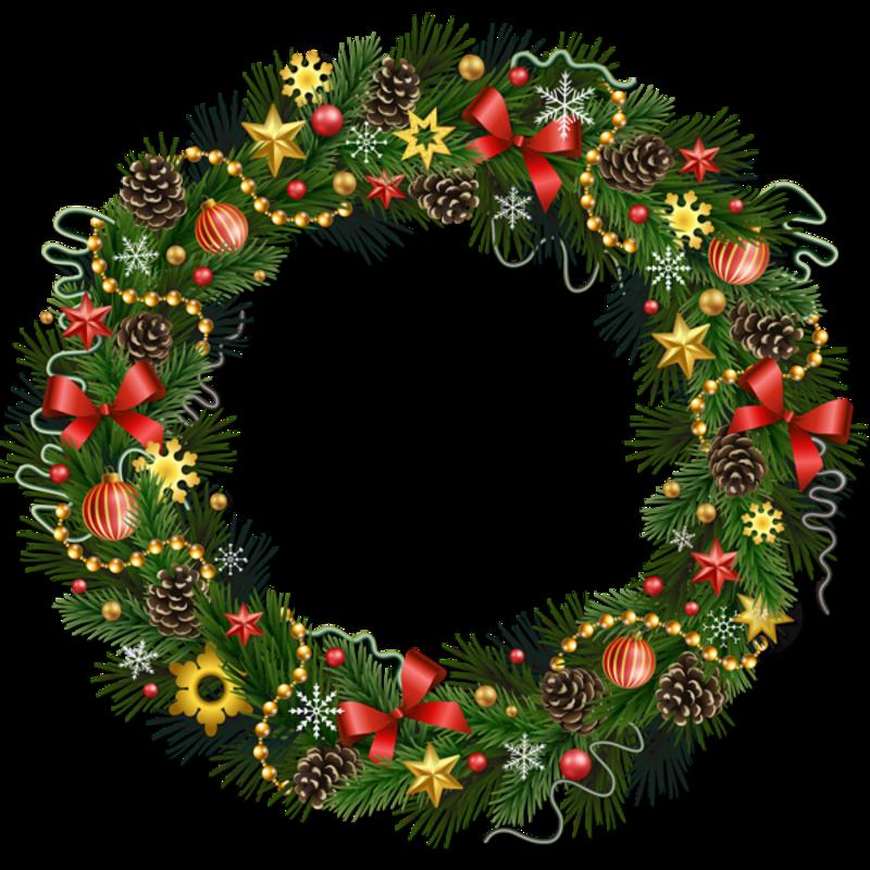 Открытки рождественские венки
