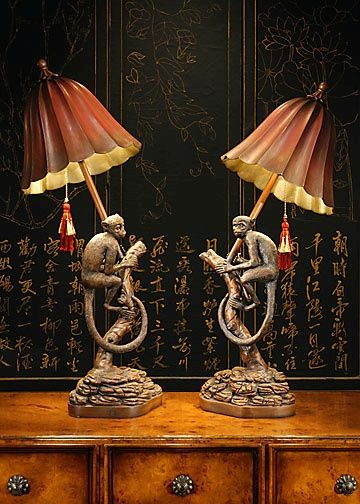 Monkey Lamp Hand Finished Faux Wood Height 32 34 80 Cm Three Way Switch Lamp Decorative Table Lamps Art Deco Lamps