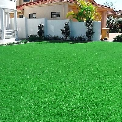Green Artificial Grass Carpet Area Rug Indoor Outdoor Garden Playroom Sports Pet