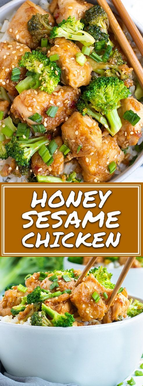 Honey Sesame Chicken and Broccoli Stir-Fry images