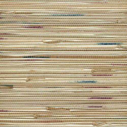 Multi-coloured Seagrass Natural Grasscloth Wallpaper
