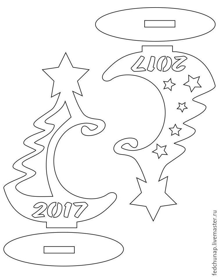 елочка из фанеры, новый год 2017 | Doe-het-zelf en knutselen ...