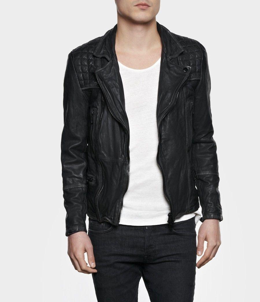 b39e053fb Cargo Leather Biker Jacket, Men, New, AllSaints Spitalfields | Style ...