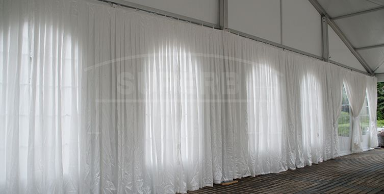 high peak wedding tent with decoration lining ms series high