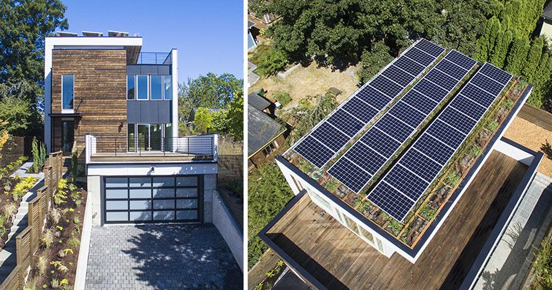 Solar Panels And A Green Roof Were Included On Top Of This