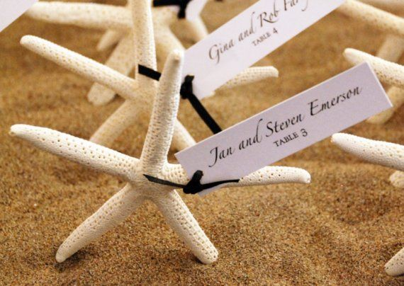 Starfish Escort Cards Or Wedding Favors Wedding Pinterest