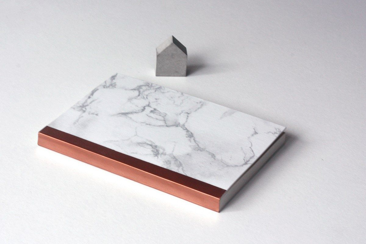 DIY Tutorial: Marble Notebook with Copper Spine