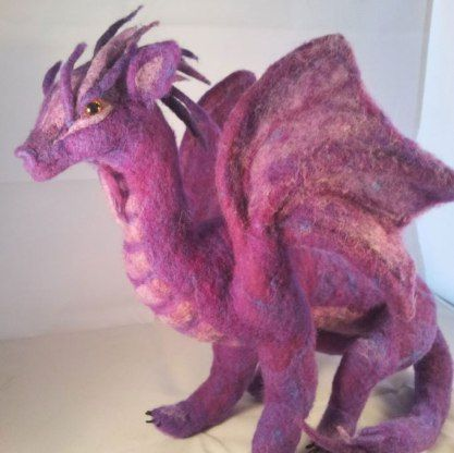 needle felted dragon – LIVING FELT Blog!