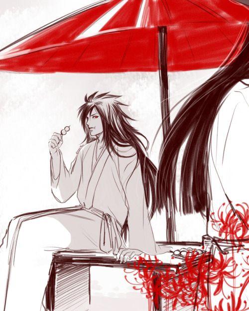 Reality is Hell | eagiel: Another Hashirama Madara sketch. Well, we can just see Hashirama's long hair. # hashirama #madara