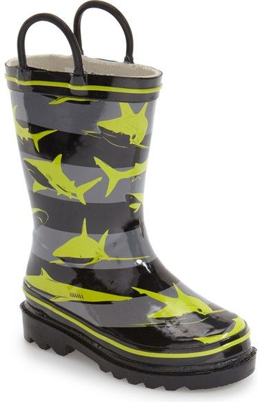 Western Chief 'Shark Stripes' Rain Boot (Walker, Toddler, Little Kid & Big Kid) available at #Nordstrom