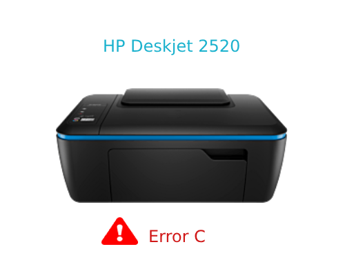 HP Deskjet 2520 error c occurs when the cartridge carriage
