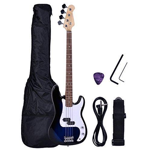 Polar Aurora New Full Size 4 Strings Blue Electric Bass Guitar Instrumentstogo Com Guitar Bass Guitar Electric Guitar