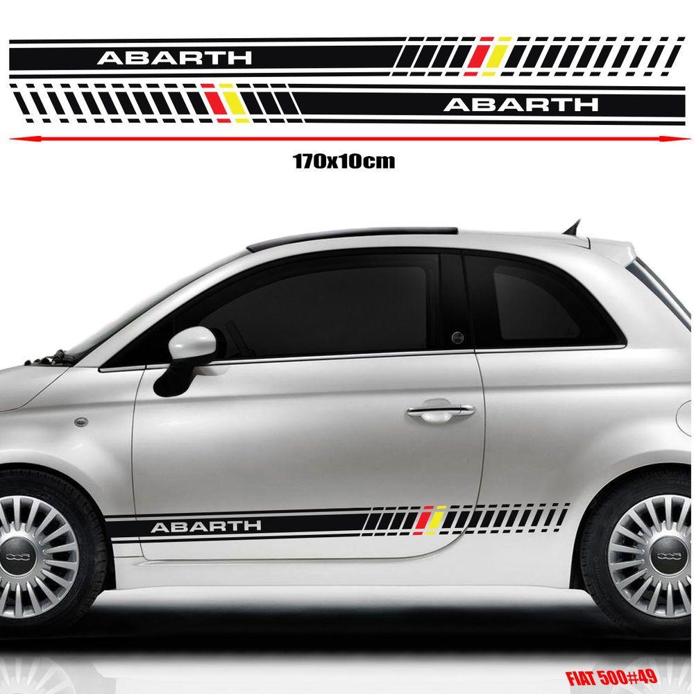 Decal Fiat 500 Custom Sticker