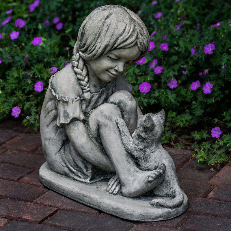 Campania International Purrfect Friends Cast Stone Garden Statue   S 482 AL