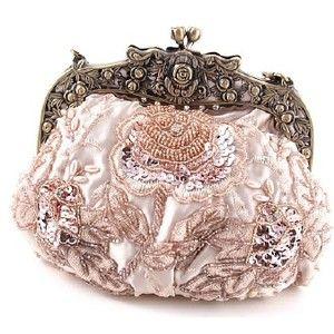 Purses Handbags Carryalls Vintage Beaded Velvet Decorative