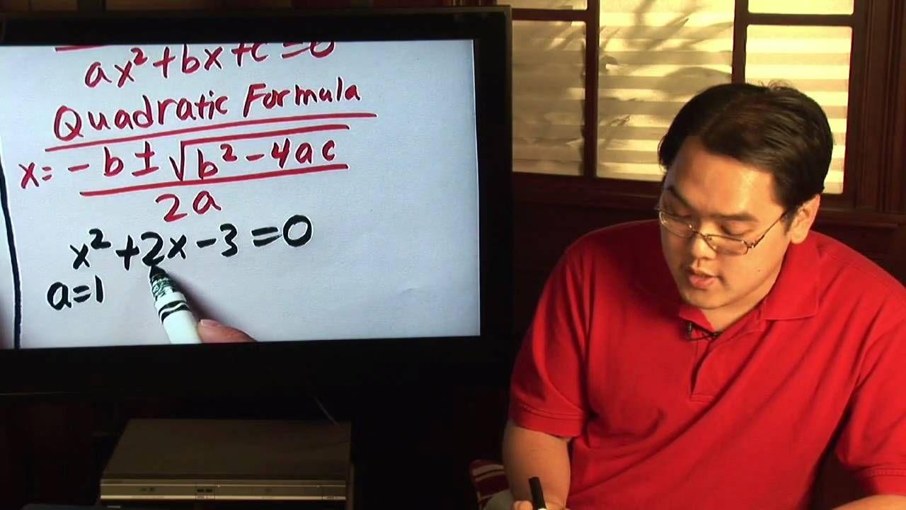 Geometry tips how to calculate the quadratic formula