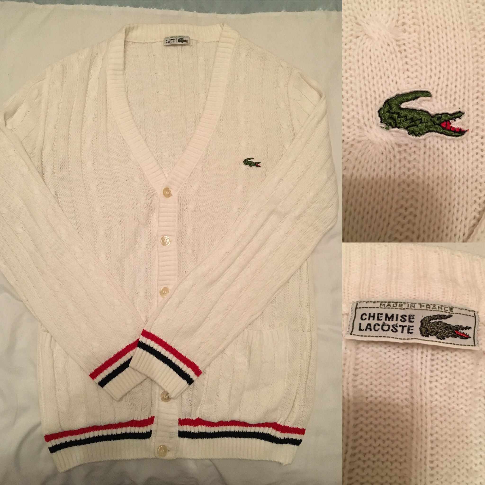 ef10201da Chemise Lacoste warm up Knit 1980's | Men in 2019 | Vintage tennis ...