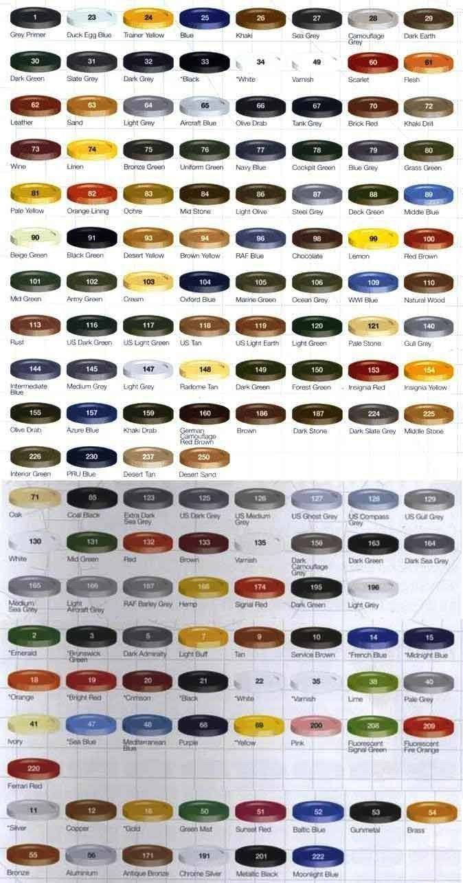 airfix humbrol enamel paintsy colours select from the colour chart ebay also rh pinterest