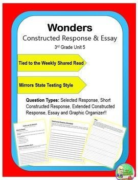 Wonders  Unit  Rd Constructed Response  Constructed Response