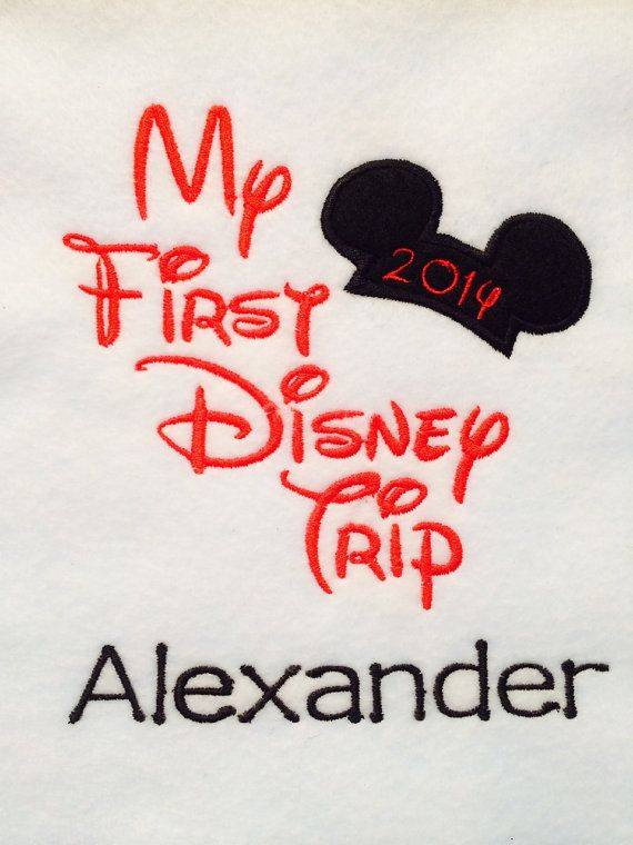 Personalized My First Disney Trip 2014 Shirt! Machine Embroidered Appliqued