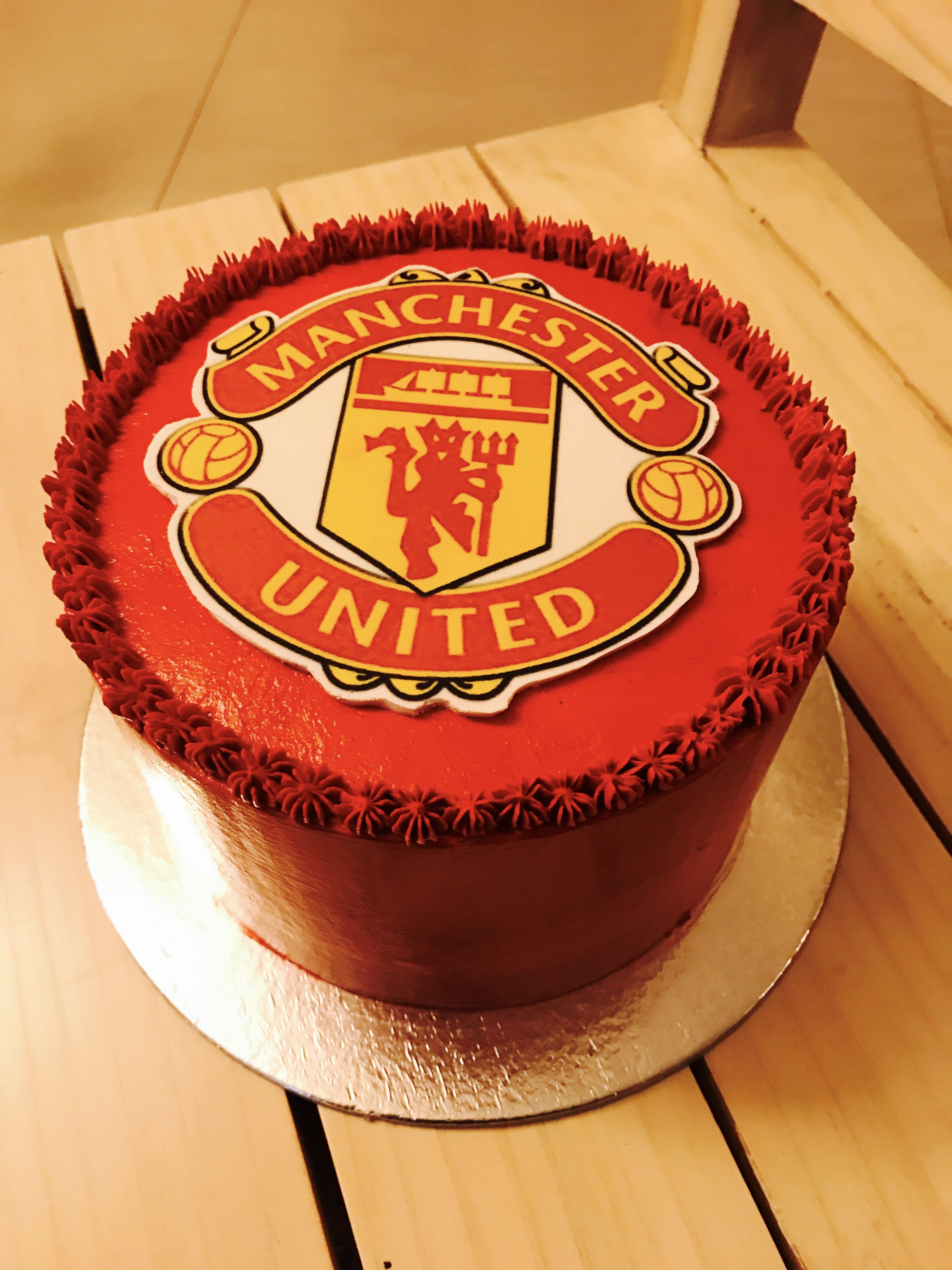 Manchester United Cake By Get Baked Manchester United Birthday Cake Soccer Birthday Cakes Manchester United Cake