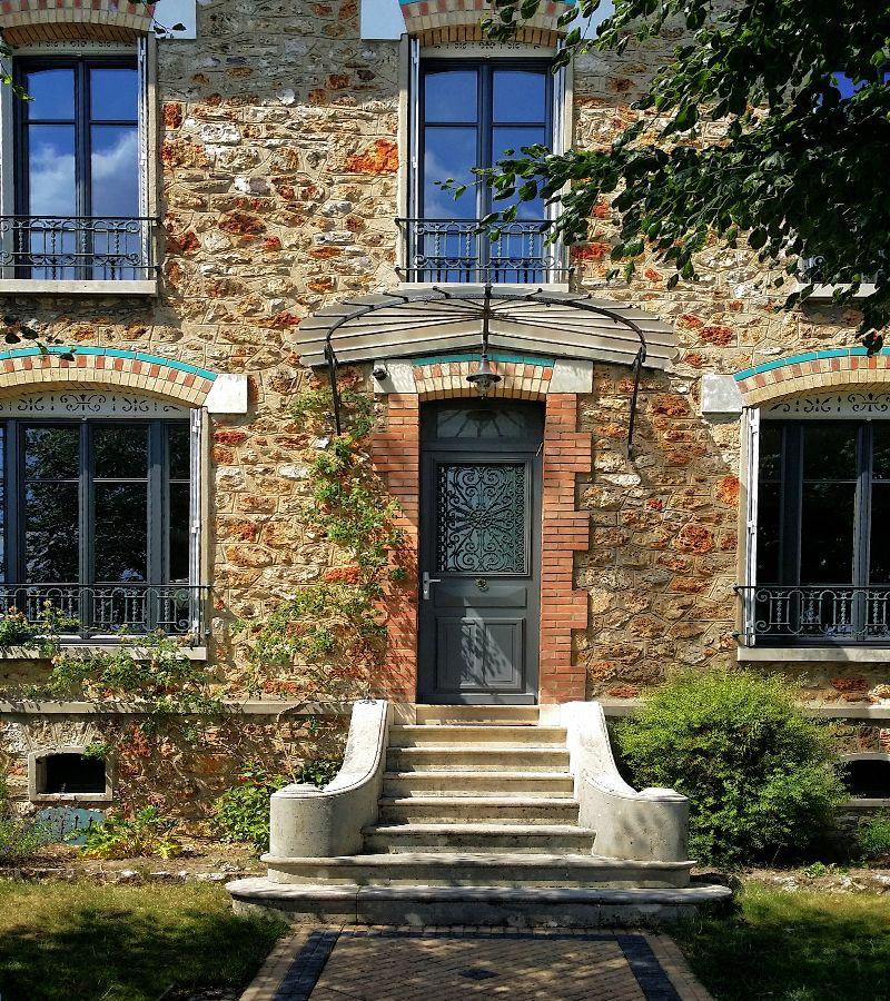 Maison meuli re porte fen tre maison pinterest front for Porte fenetre 4 vantaux accordeon