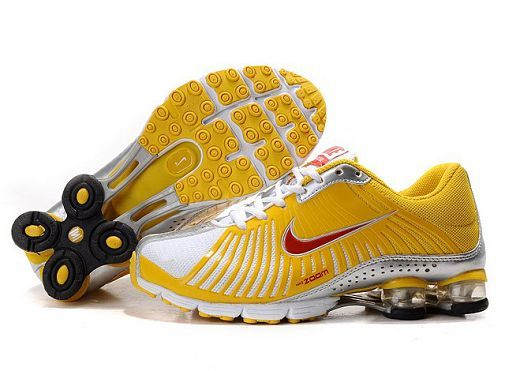 NIKE SHOX EXPERIENCE WOMENS RUNNING SHOE YELLOWRED-SILVER SALE 80.64