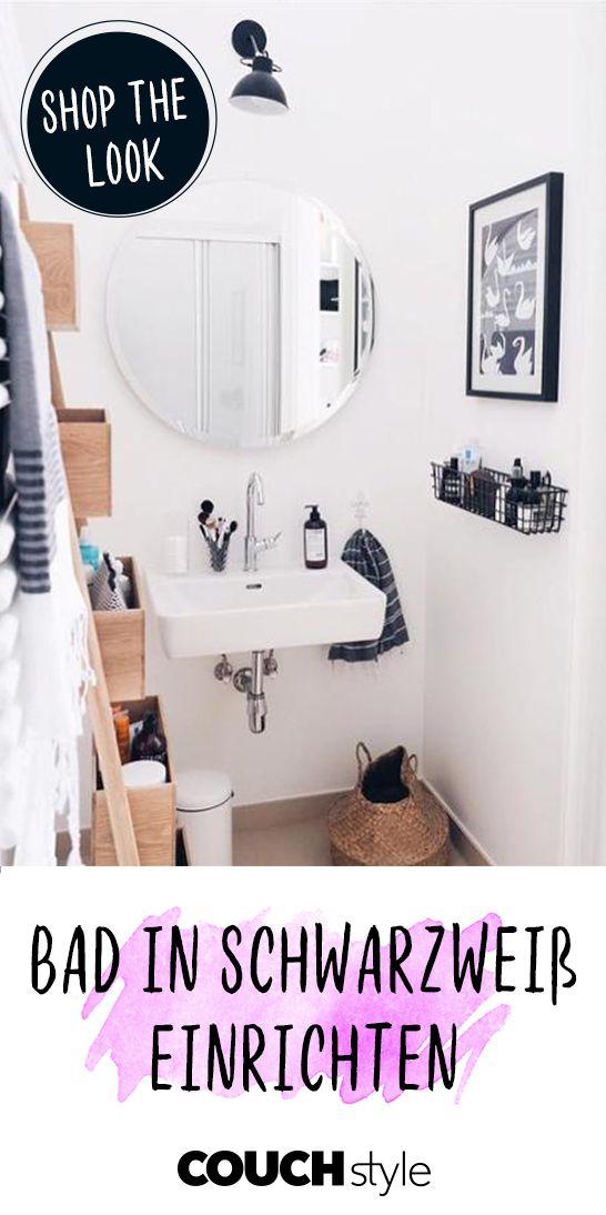 So Gehtu0027s: Badezimmer In Schwarzweiß Einrichten! Der Farbmix Aus Weiß, Braun  Und Schwarz