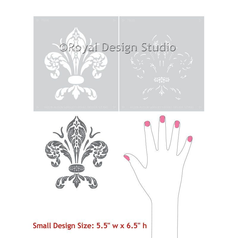 Clic Home Decor Decorating Walls And Furniture With Fleur De Lis Stencils Royal Design