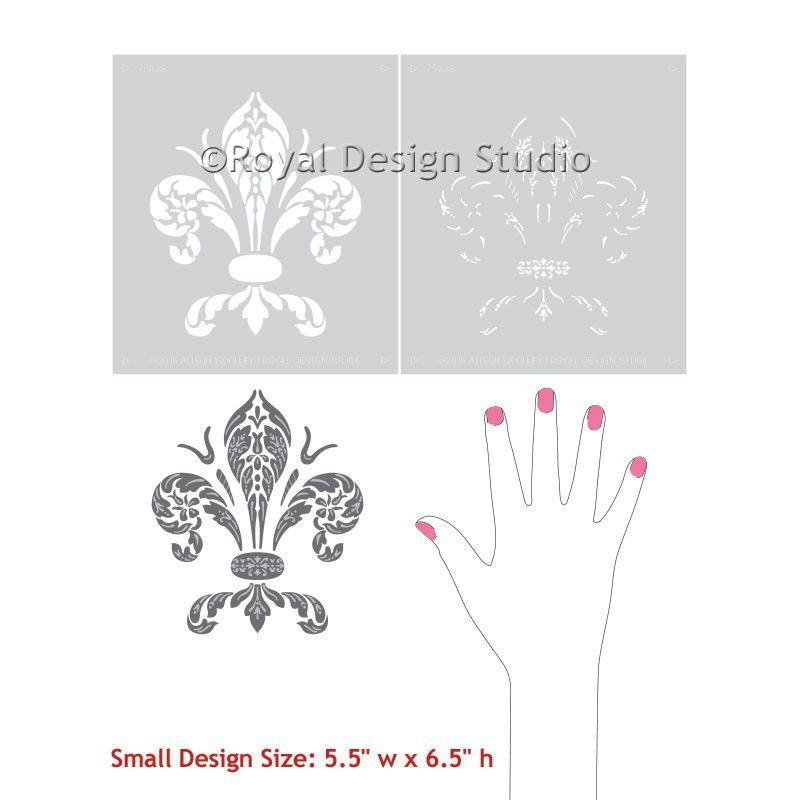 Clic Home Decor Decorating Walls And Furniture With Fleur De Lis Stencils Royal Design