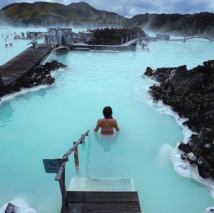 "@earthvisuals: ""Blue Lagoon in Iceland photo by: @threeifbysea #EarthVisuals"""