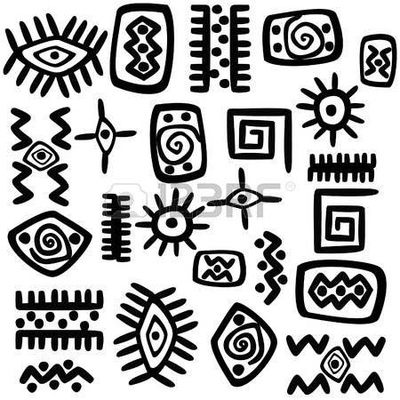 Stock Vector Afrikanische Symbole Afrikanische Muster Und