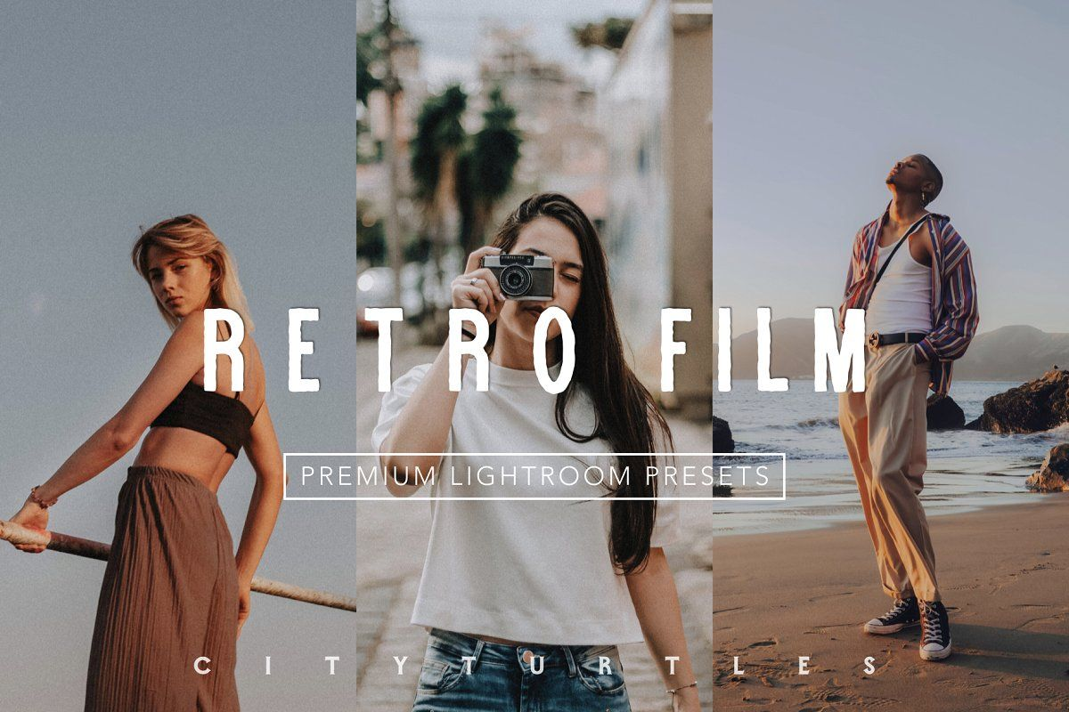 Retro Film Lightroom Presets Pack Film Presets Lightroom Film Presets Retro Film