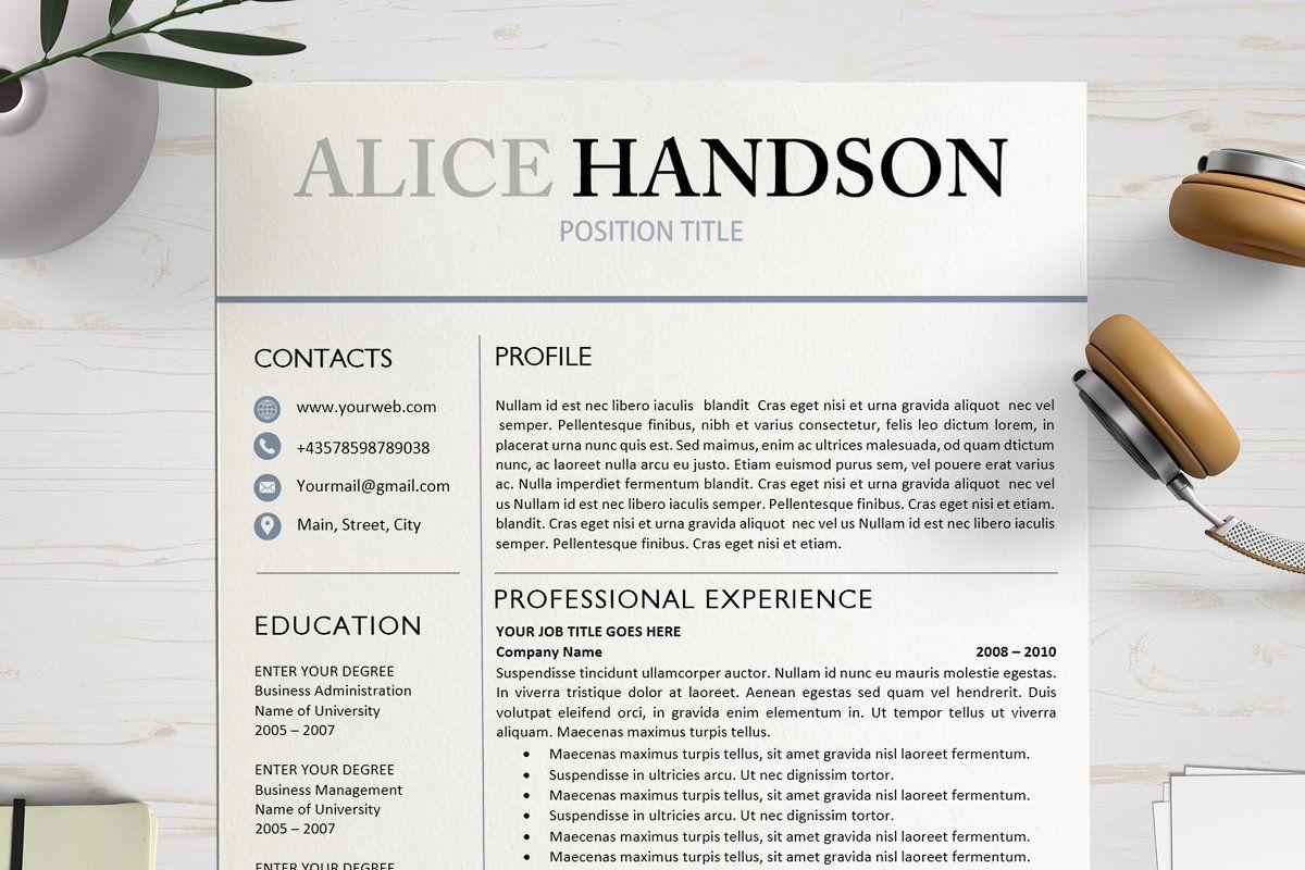 Resume CV Template in 2020 Resume cv, Professional