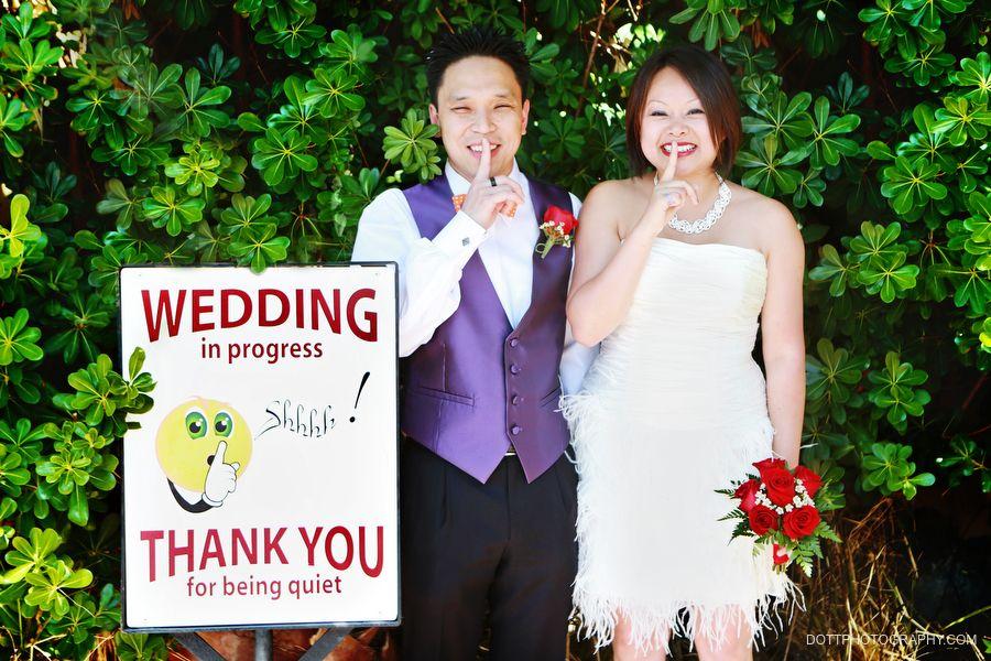 Wedding in progress las Vegas