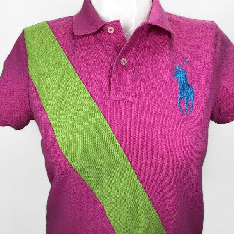 Ralph Lauren The Skinny Polo Rugby Shirt Womens Large Hot Pink Big Pony Logo 2 Ralphlauren Polorugby Cas Womens Shirts Ladies Tops Fashion Polo Rugby Shirt