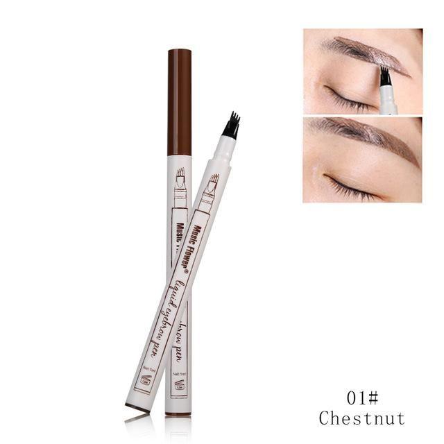 Music Flower Brand Makeup 3 Colors Fine Sketch Liquid Eyebrow Pencil
