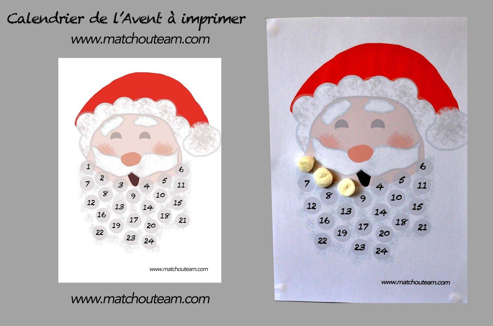 Calendrier De L Avent Histoire.Calendrier De L Avent A Imprimer Calendrier De L Avent