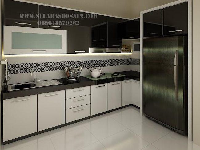 Desain Kitchen Set Elegan Dengan Nuansa Hitam Putih Kitchen Idea