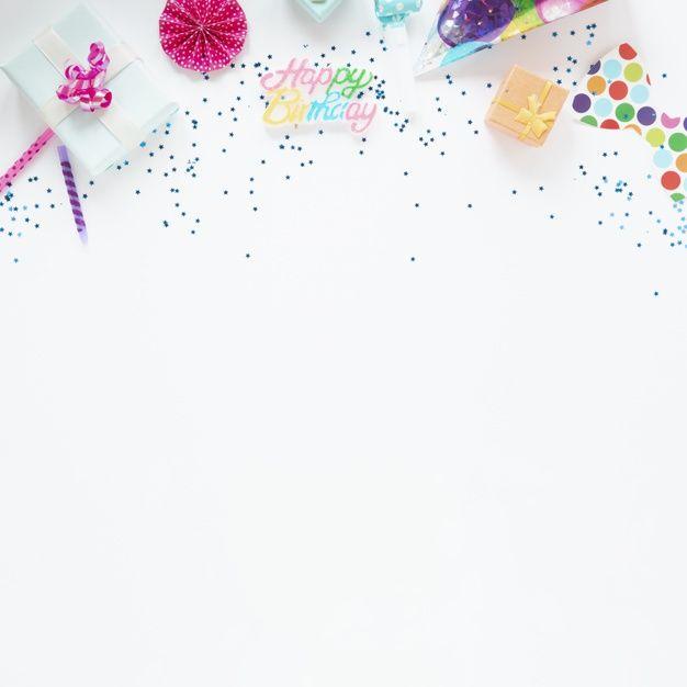 Descarga gratis Composición Colorida De Artículos De Cumpleaños Con Espacio De Copia