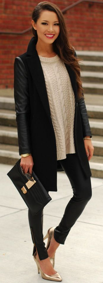 Look de inverno . Winter . Black coat . Casaco preto