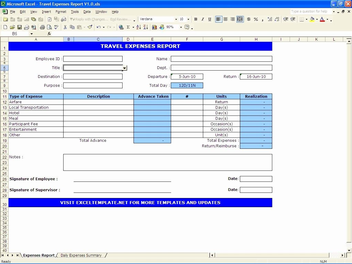 Travel Request Form Template Excel Best Of Travel Expenses