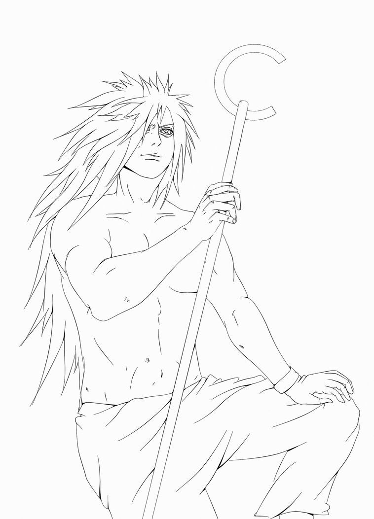 Uchiha Madara Lineart By Sakon666 On Deviantart Madara Uchiha