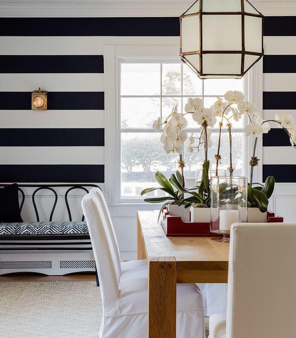 Morris Medium Lantern Horizontal striped wallpaper