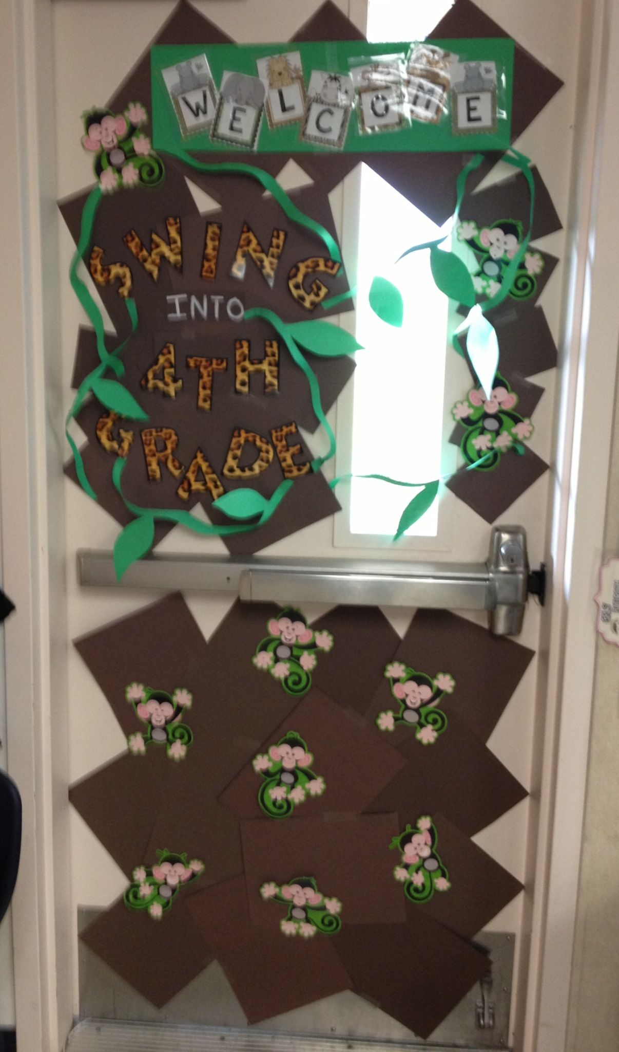 Swing into 4th grade Classroom door decoration   Classroom ...