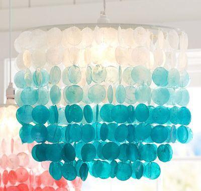 Blue Capiz Shell Chandelier Chandeliers Design – Tropical Chandelier