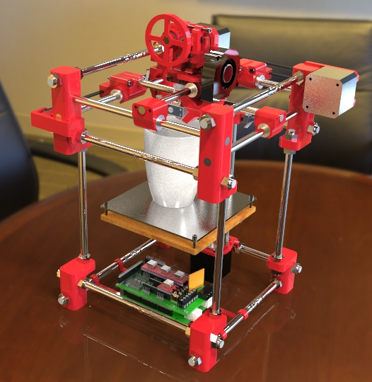 Files for the 'Skeleton 3D' RepRap 3D Printer Now